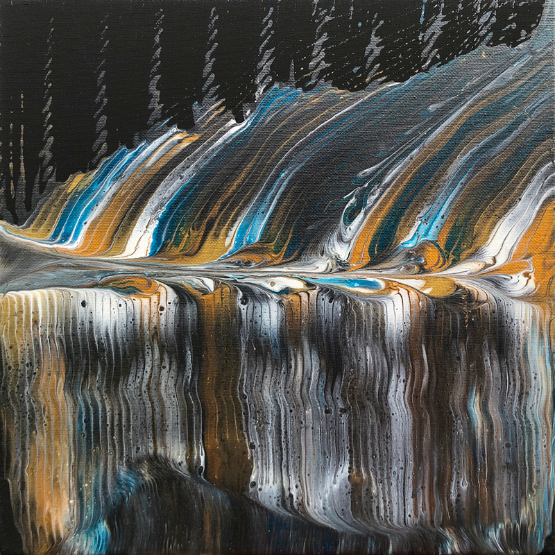 Abstract pour painting